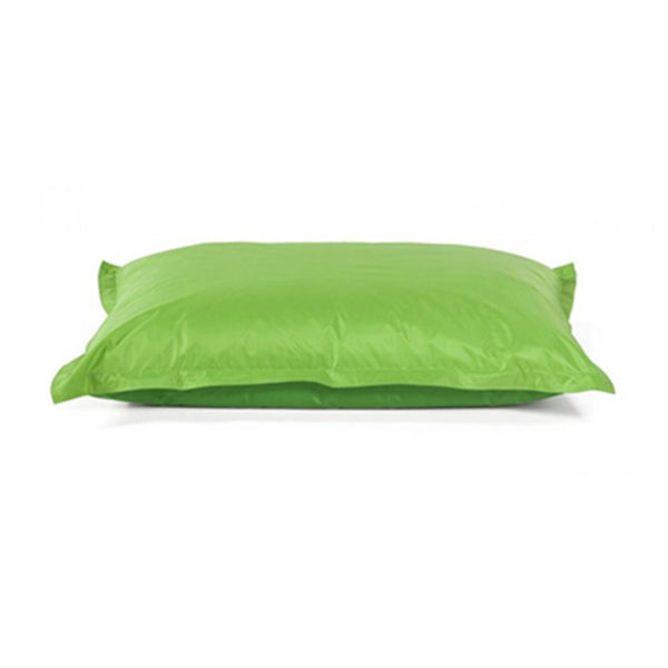pouf géant vert lime pour égayer vos réceptions, parfait fauteuil d'appoint en extérieur comme en intérieur