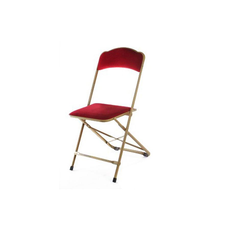 chaise capitonnée rouge velours dorée évènement congrès