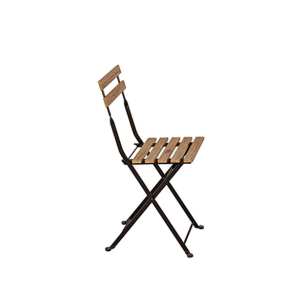 chaise latte bois noire vintage évènement extérieur mariage réception