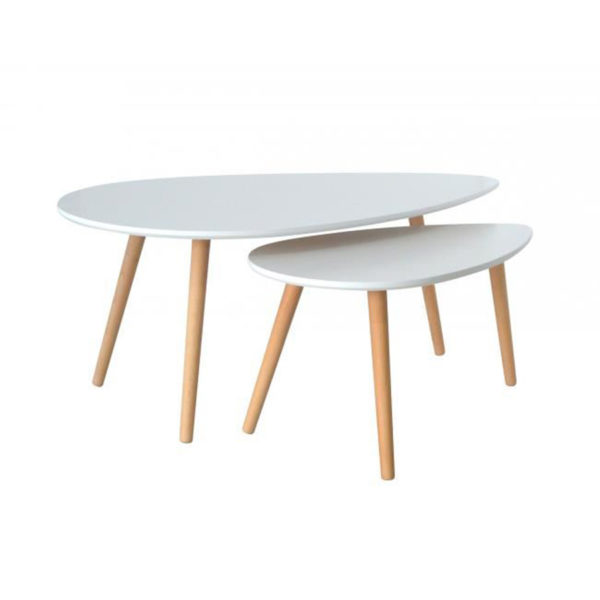 Table Basse Gigogne Blanche.Table Basse Gigogne Blanche Grand Modele